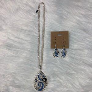 Kirsten swirl pendant set with matching earrings